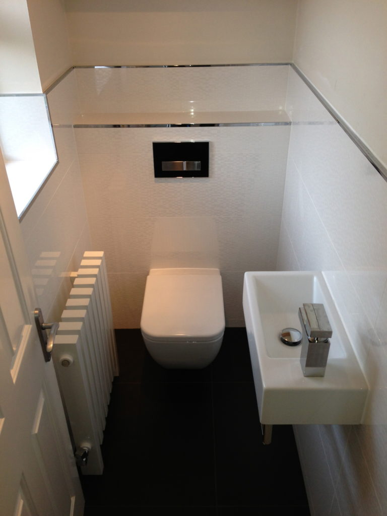 Downstairs cloakroom bathrooms complete for Small wc room design