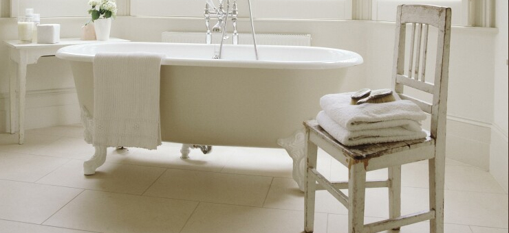 Using Bedroom Chairs as Bold Bathroom Statements. | Bathrooms Complete